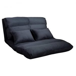 Bubry 2 Seater Sofa Bed, Charcoal