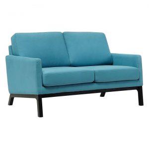 Jesper Oak & Fabric 2-Seater Sofa
