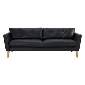 Luella Leather 3 Seater Sofa