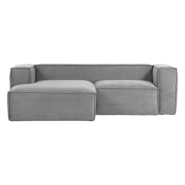 Naaji Corduroy 2 Seater Sofa with Right Hand Chaise