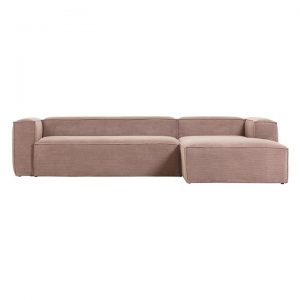Naaji Corduroy 3 Seater Sofa with Right Hand Chaise