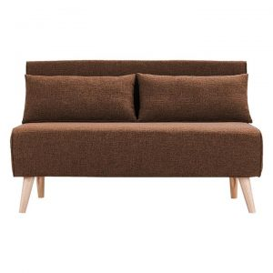 Sarantino Adjustable 2-Seater Faux Linen Sofa Bed